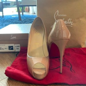Christian Louboutin Very Prive 120 Nude Pump